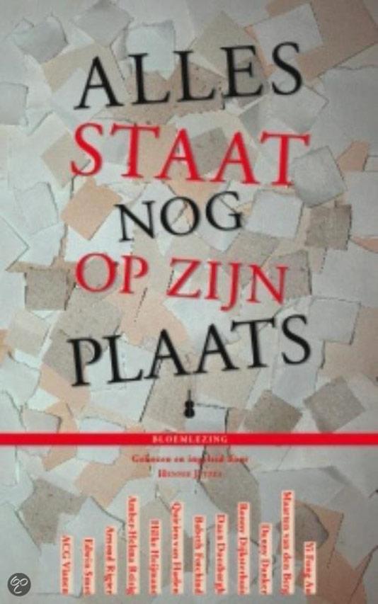 Bloemlezing: Alles staat nog op zijn plaats waarin werken van maarten van den Berg zijn opgenomen.